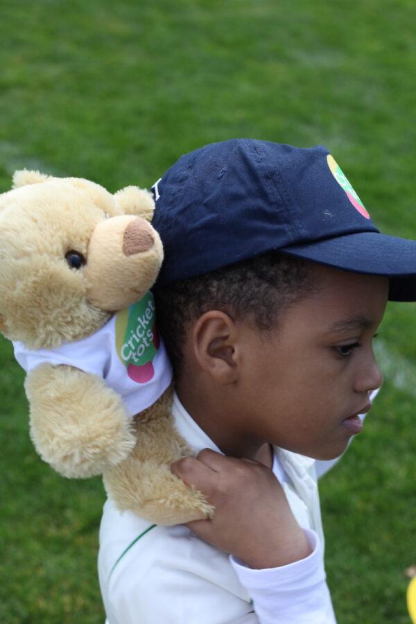 bailey bear - cricket tots mascot